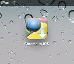 Chrome to iOS