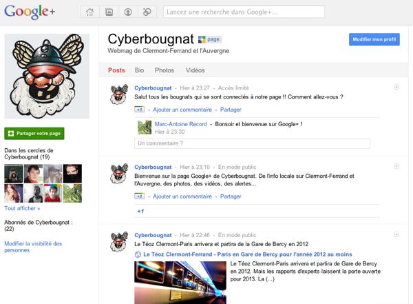 Cyberbougnat sur Google+