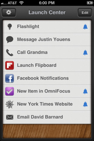 Launch center liste