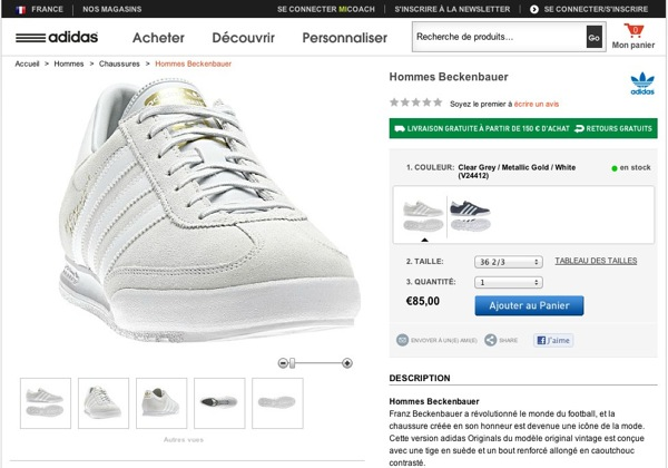 Sneakers adidas beckenbauer