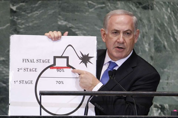Benjamin netanyahu a l ONU PHOTO