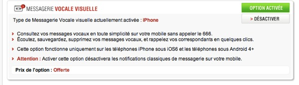 Messagerie visuelle Free