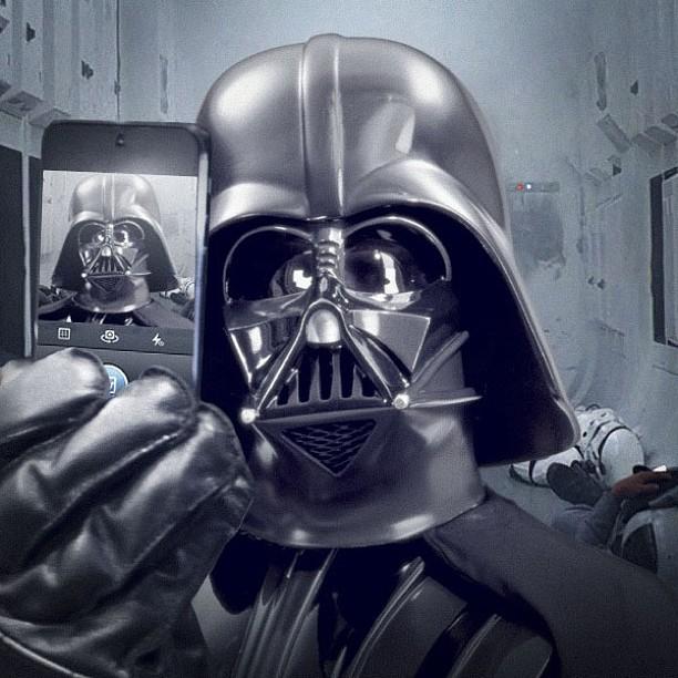 Star Wars selfie Dark Vador