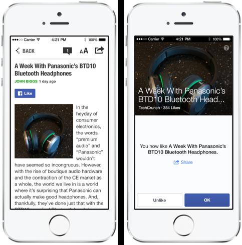 Nouvelles options de partage dans Facebook