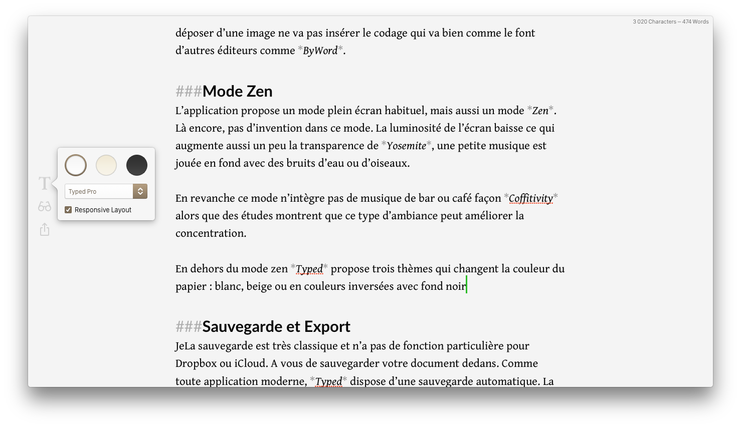typed-menu-texte